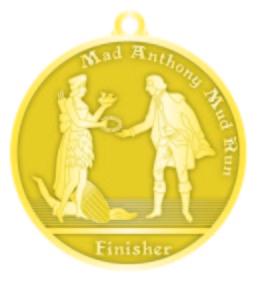Mad Anthony Mud Run Medal